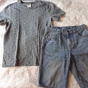 NWOT 8 10 BOYS ABERCROMBIE Tshirt Shorts Bundle